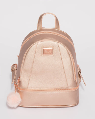Rose Gold Bridget Medium Backpack