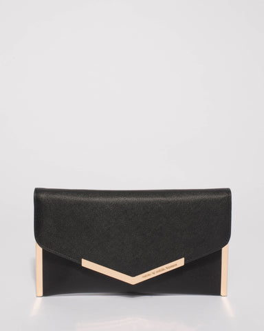 Black Geena Clutch Bag
