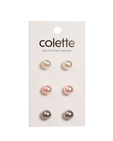 Multi Colour Pearl Earring Pack