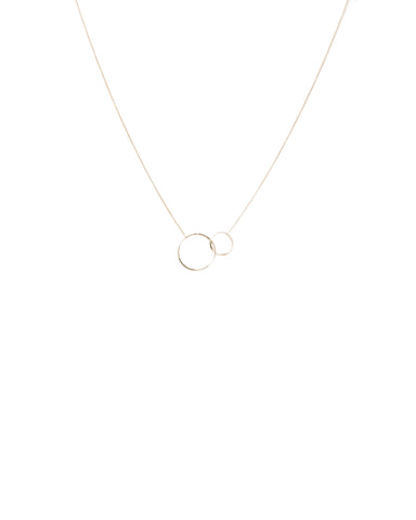 Fine Metal Circles Necklace