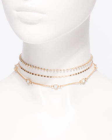 3 Pack Chain Choker Necklace