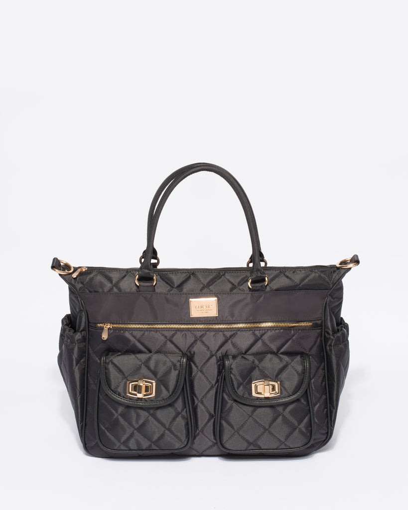87e9c2bffa Black Quilted Travel Baby Bag – Colette by Colette Hayman UK