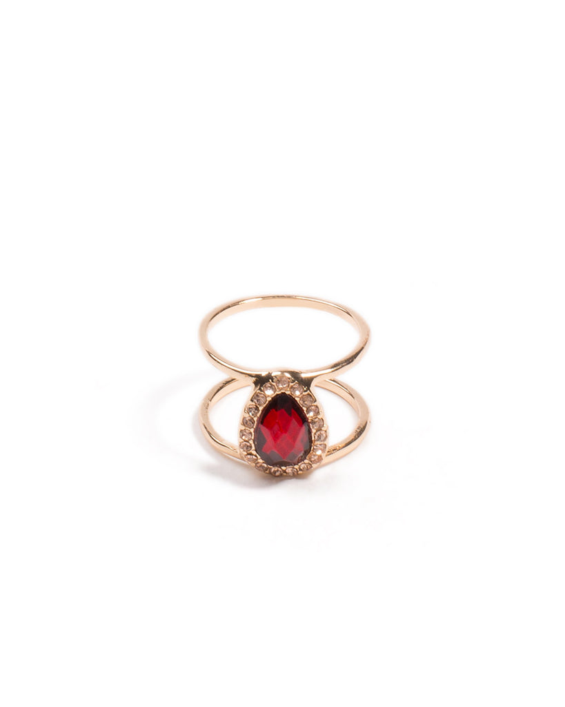 Stone Pave Double Ring - Medium