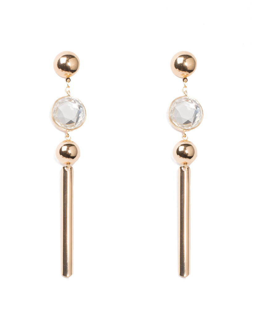 Metal Bar Drop Earrings