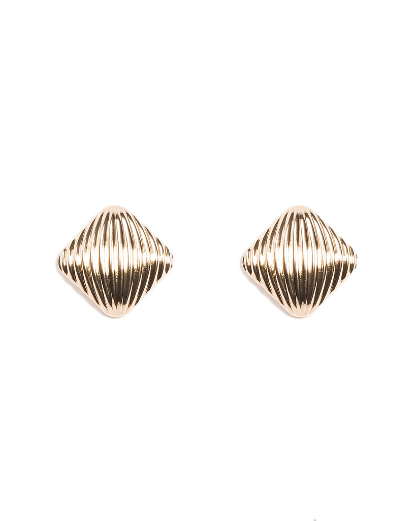 Square Detail Stud Earrings