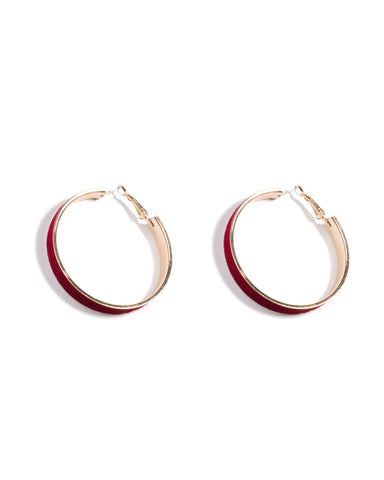 Velvet Hoop Earrings