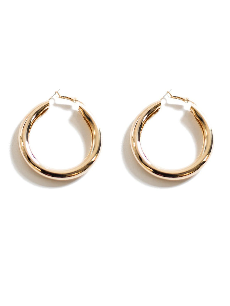 40mm Wide Hoop Earrings