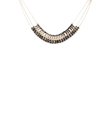 Arrow Bar Beaded Statement Necklace