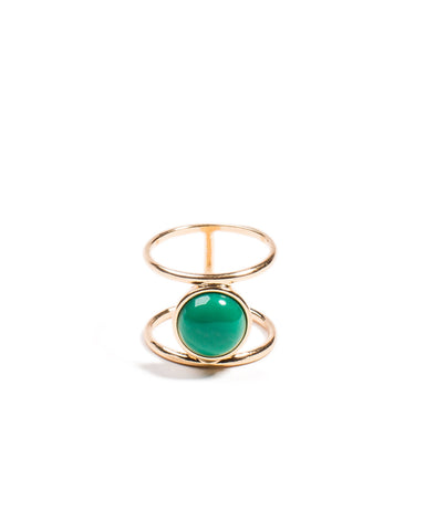 Stone Double Band Ring - Large