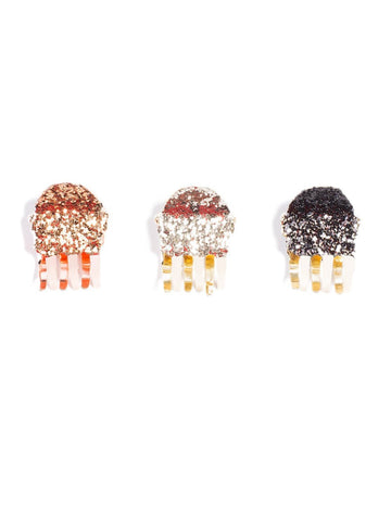 Mini Glitter Clip 3 Pack