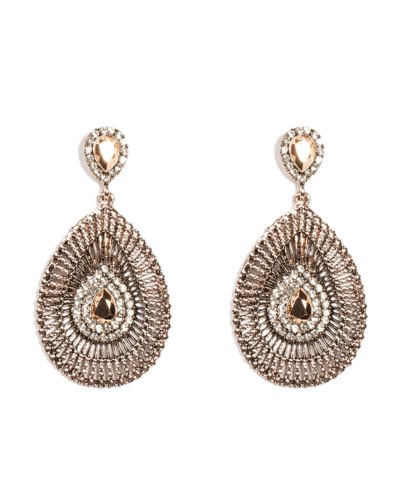 Detailed Filigree Teardrop Earrings