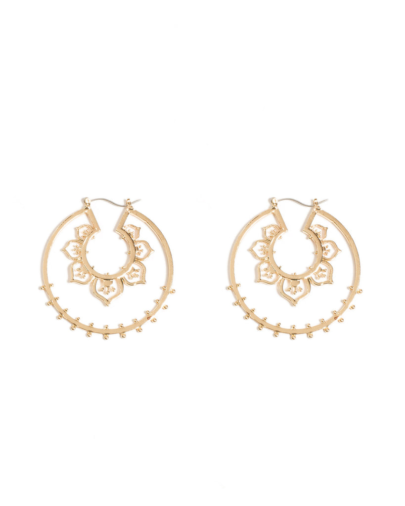 Filigree Detailed Hoop Earrings