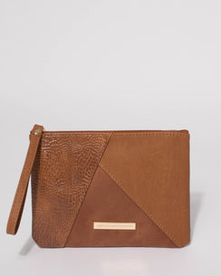 Tan Poppy Panelled Purse