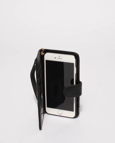 Black Textured Iphone 6, 7 & 8 Plus Purse