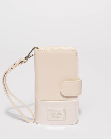Ivory Saffiano Iphone 6, 7 & 8 Purse