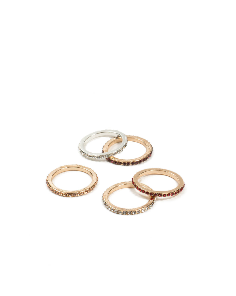Diamante Stone Fine Band Rings - Medium
