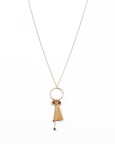Charms Tassel Pendant Necklace