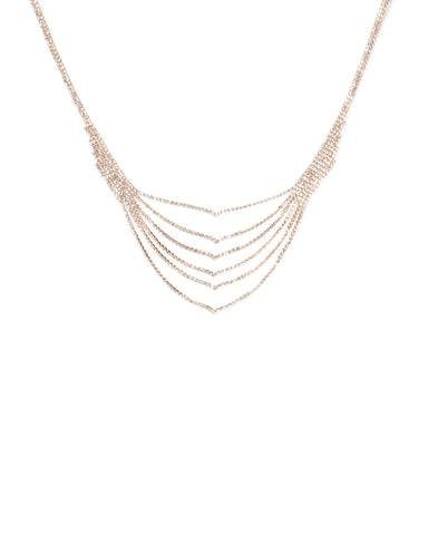 Diamante Layered Chain Necklace