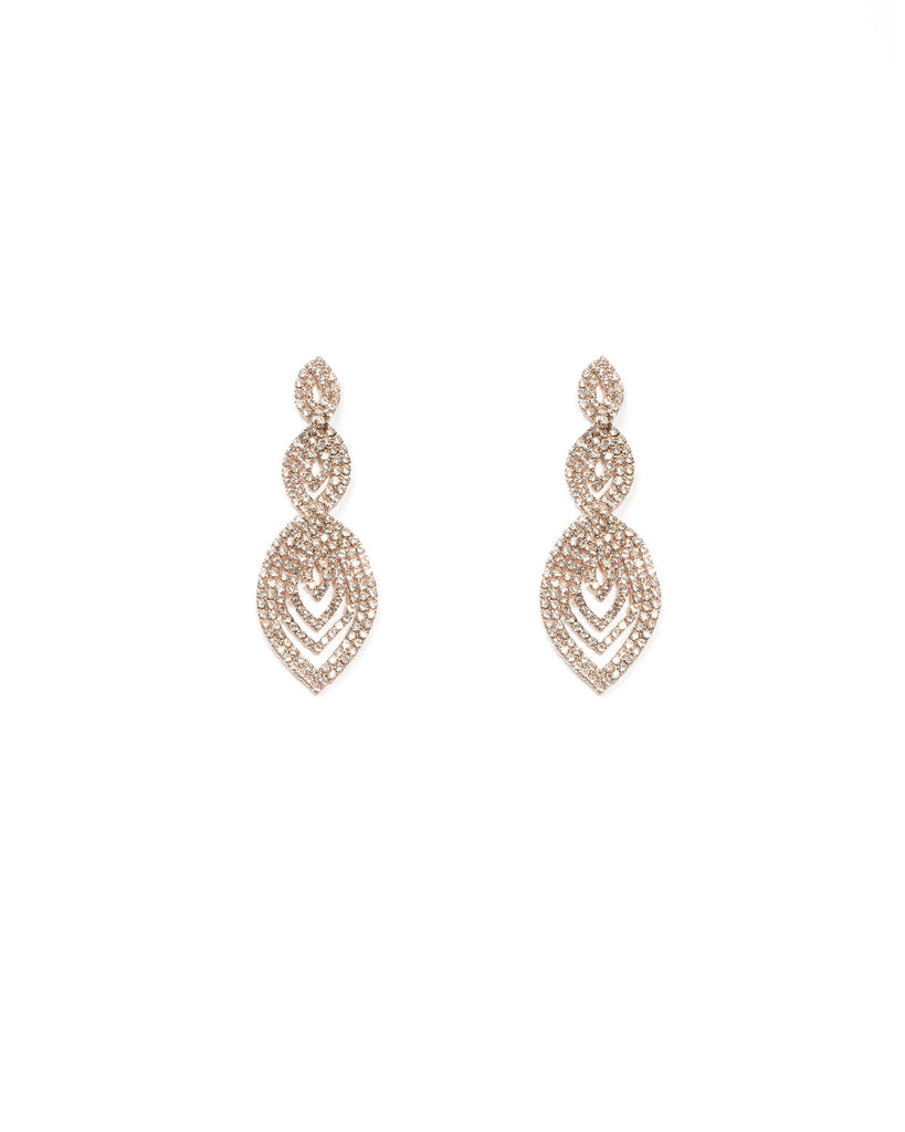 Diamante Cup Chain Tiered Earrings