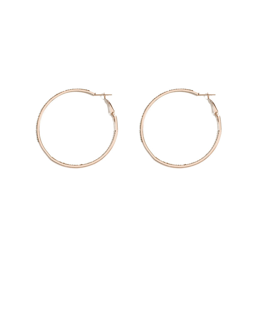 Fine Diamante Stone 45mm Hoop Earrings