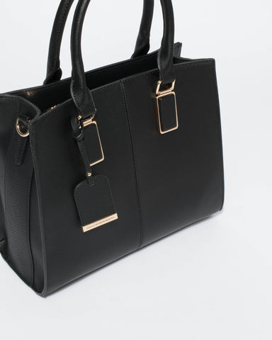 Black Diana Tag Tote Bag