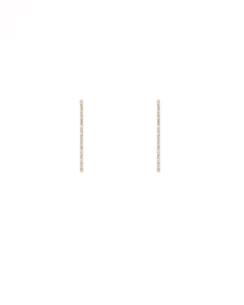 Diamante Pave Bar Earrings