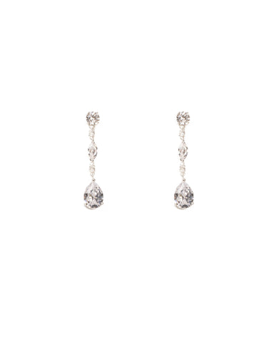 Cubic Zirconia Mixed Stone Drop Earrings
