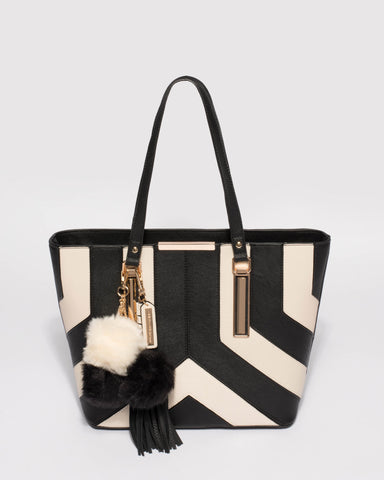 Monochrome Tegan Tote Bag