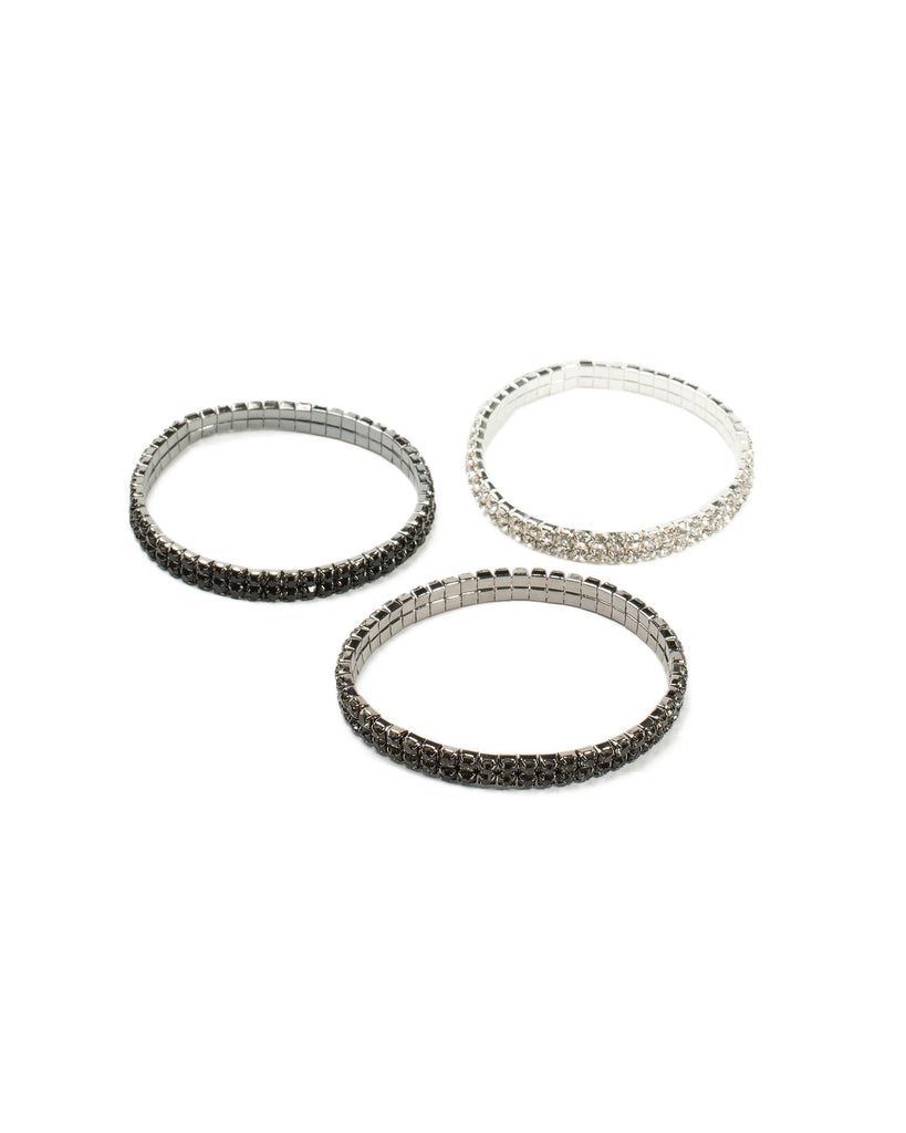 Diamante Cup Chain Stretch 3 Pack Wristwear