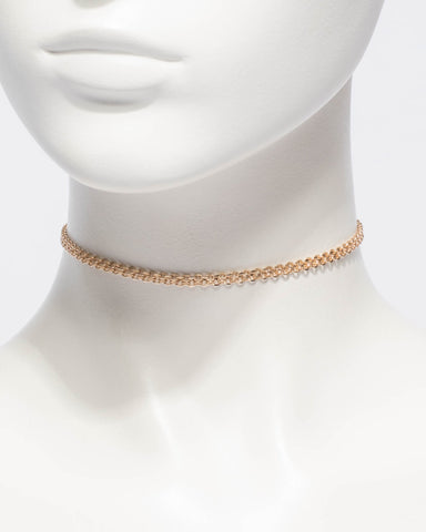 Woven Chain Choker Necklace