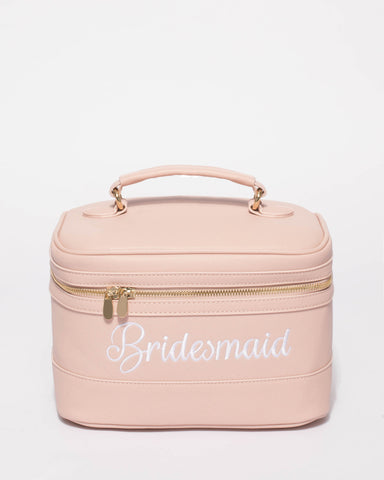 Pink Bridesmaid Cosmetic Case