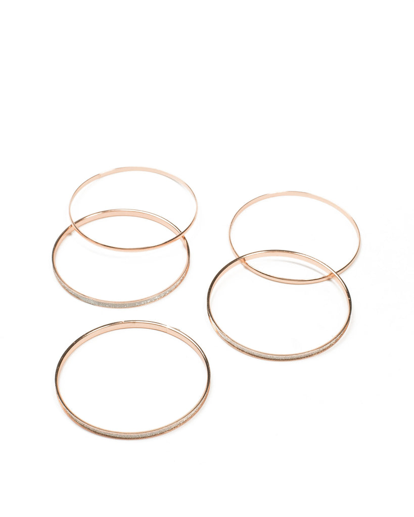 Glitter And Smooth Bangle Pack