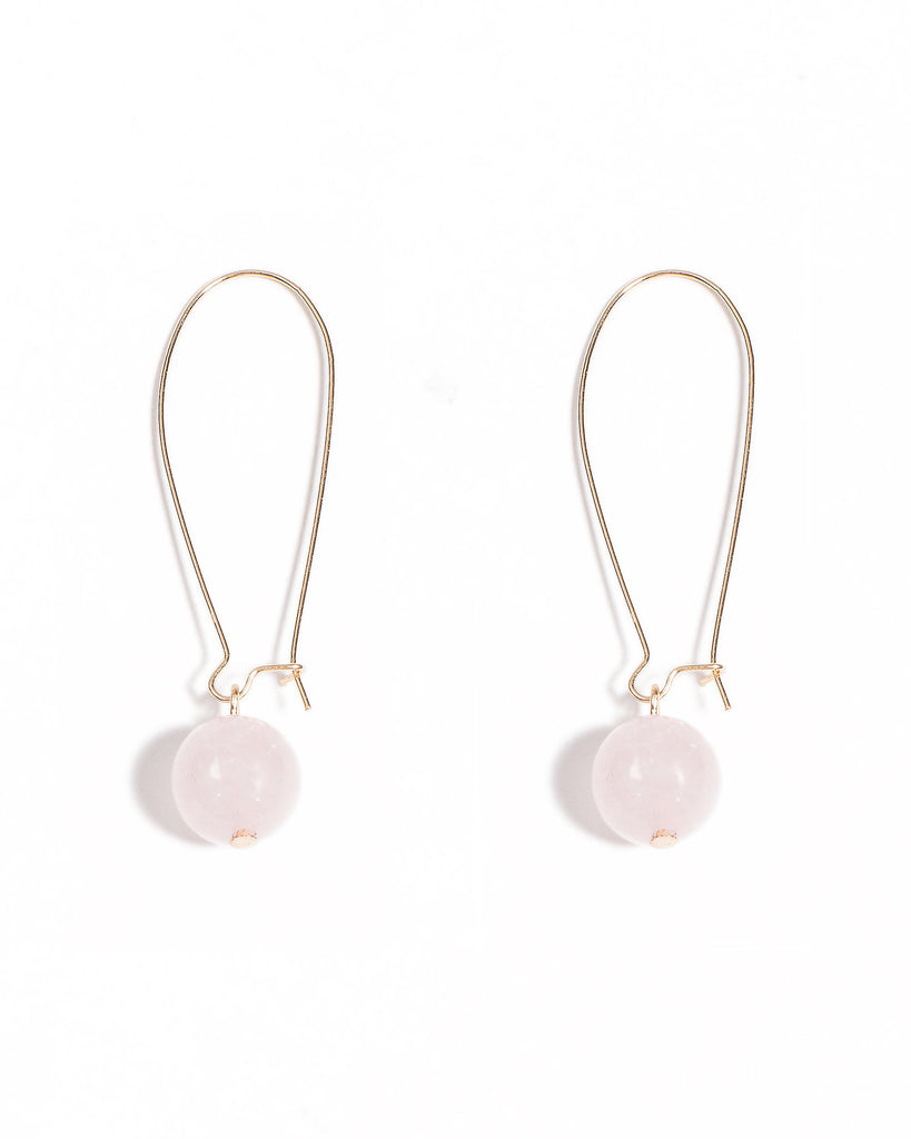 Drop Down Ball Earrings