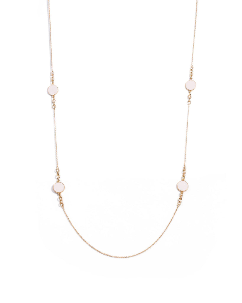 Disc Chain Long Necklace