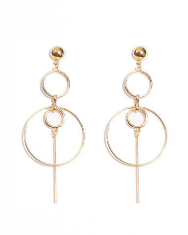 Drop Ring Statement Earrings