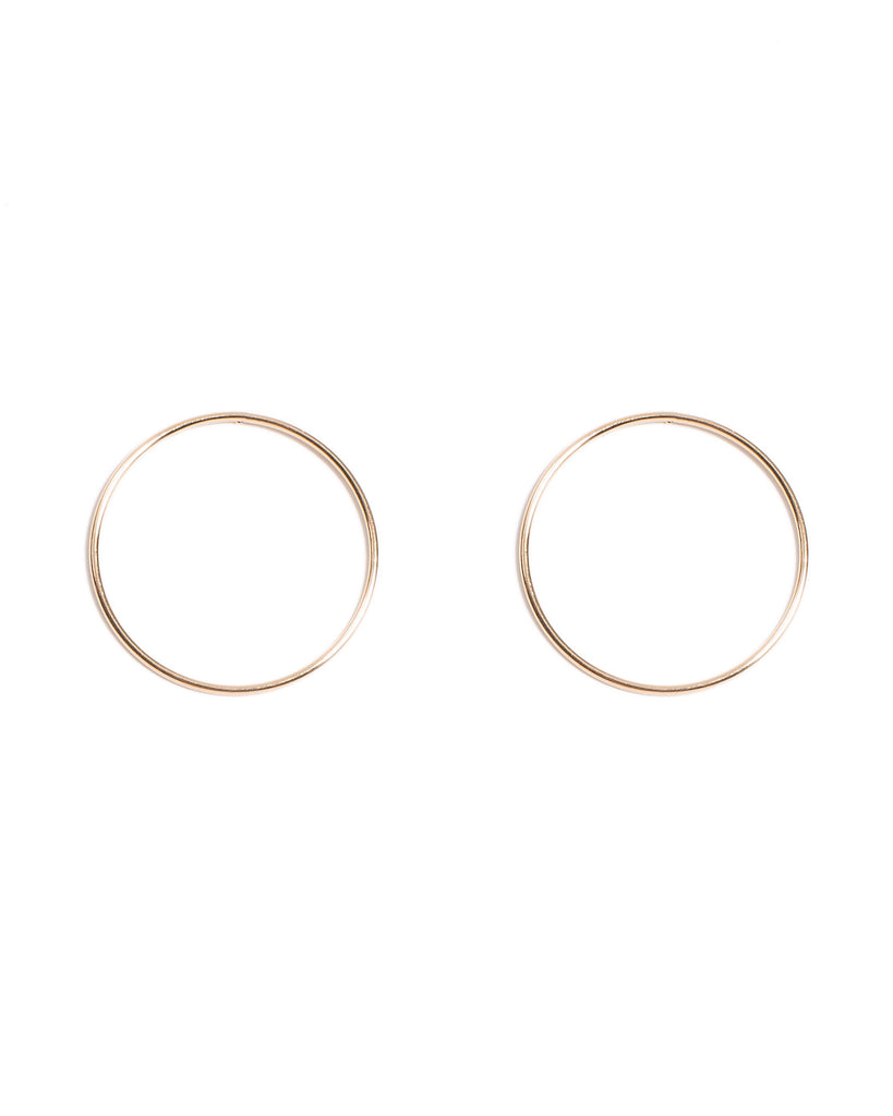 Drop Hoop Stud Earrings