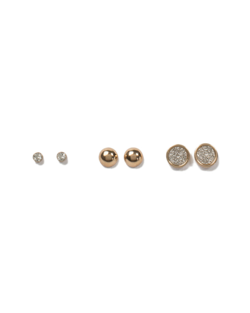 Diamante Glitter 3 Pack Earrings