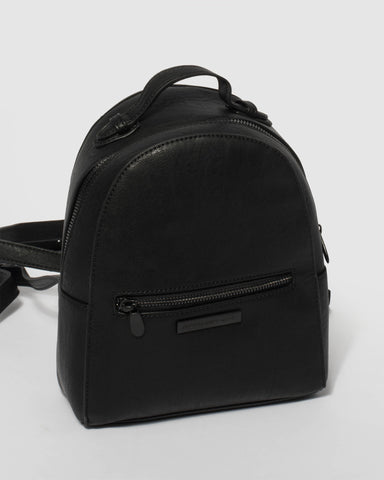 Black Bianca Mini Backpack