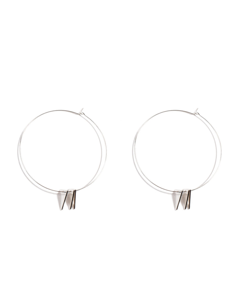 60mm Geometric Hoop Earrings