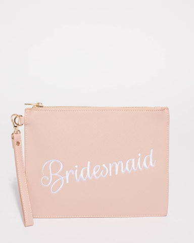 Pink Bridesmaid Clutch Bag