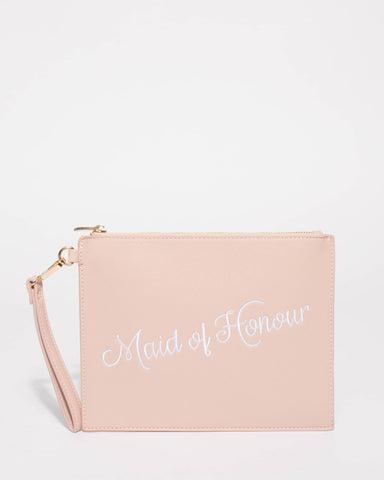 Pink Maid of Honour Clutch Bag