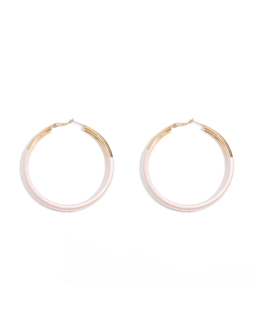 Fabric Wrapped 60mm Hoop Earrings