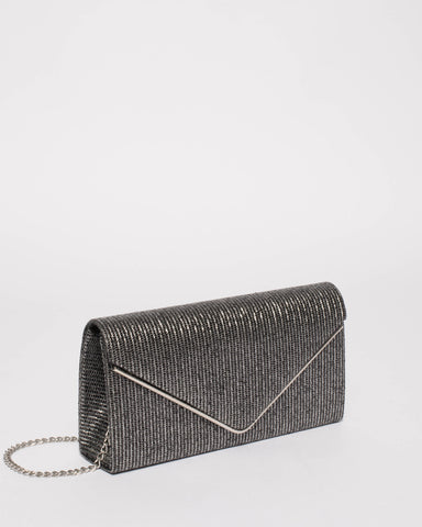 Pewter Sammie Clutch Bag