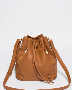 Tan Giselle Tab Pouch Bag