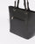 Black Saffiano Carissa Tote Bag With Silver Hardware