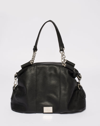 Black Akira Soft Hobo Bag