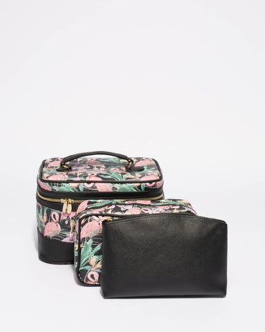 Multi Colour Bird Cosmetic Case Pack
