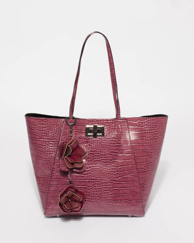 Berry Saige Flower Tote