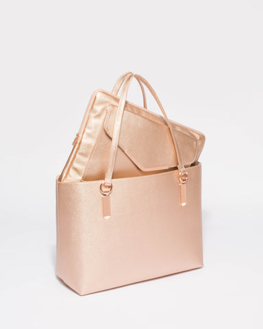 Angelina Rose Gold Tote