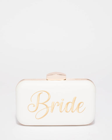 White Bride Hardcase Clutch